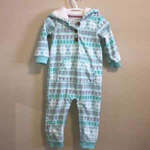 Carters 1pc Hooded Jumpsuit